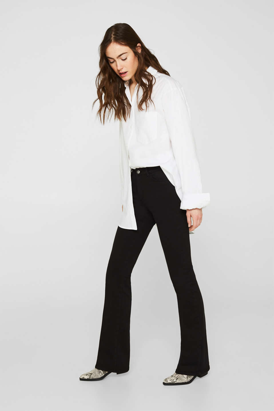Shaping trousers with a great fit, BLACK, detail