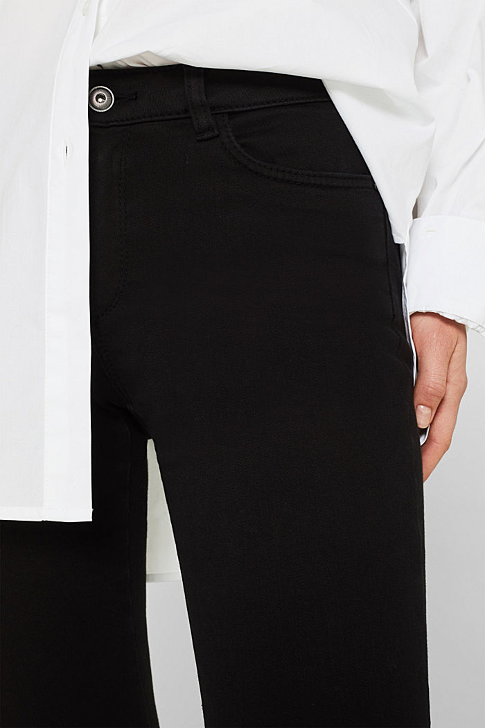 Shaping trousers with a great fit, BLACK, detail image number 2