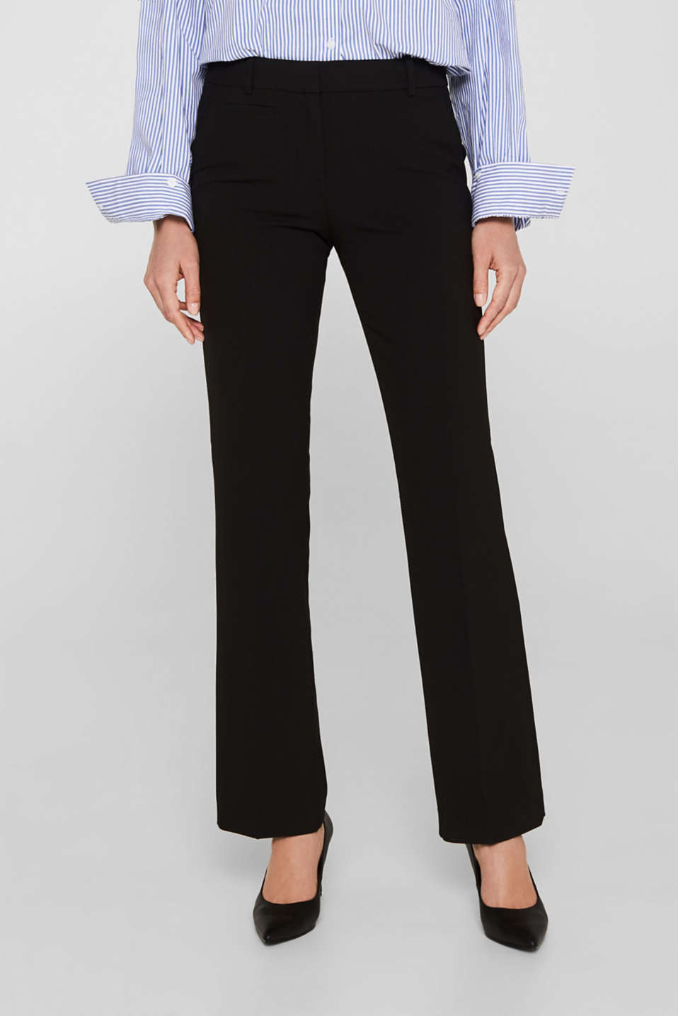 Esprit - Melierte Jersey-Stretch-Pants