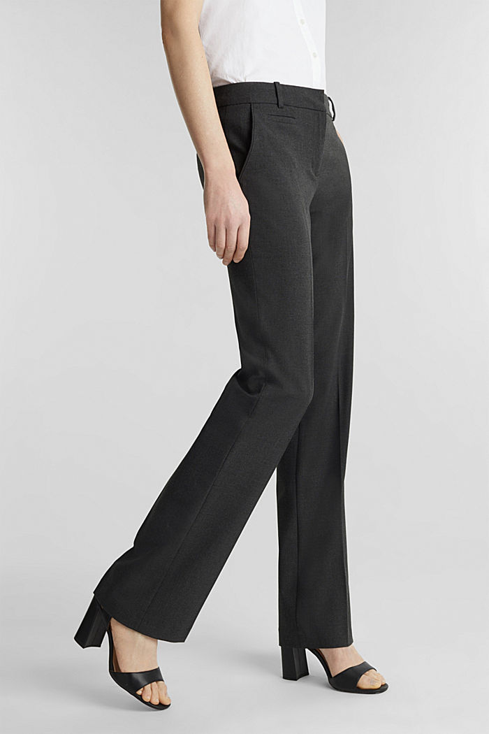Business trousers with stretch for comfort, DARK GREY, detail image number 0