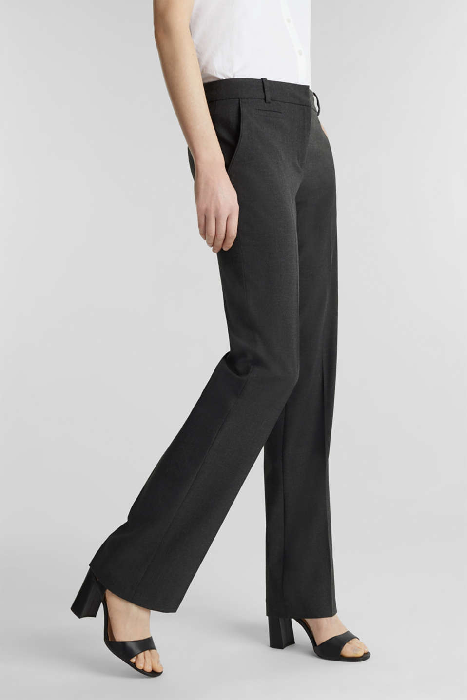 Esprit - Business pantalon met comfortabele stretch
