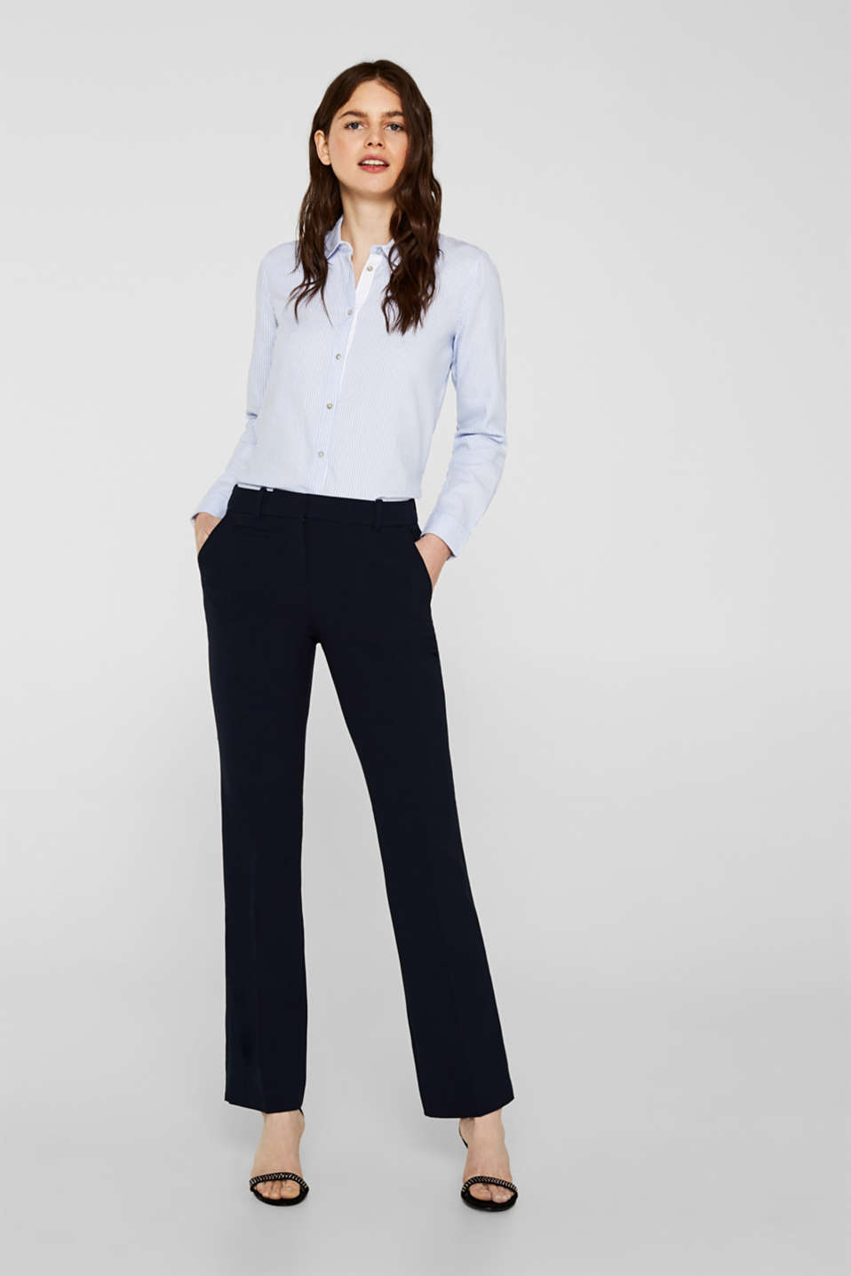 Esprit - Business trousers with stretch for comfort