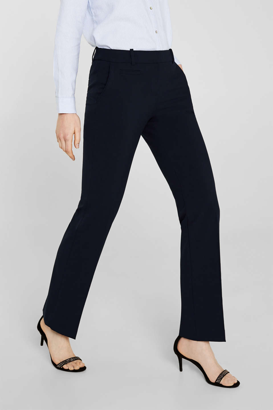 Business trousers with stretch for comfort, NAVY, detail image number 2