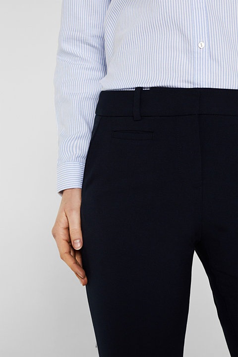 Melange stretch jersey trousers