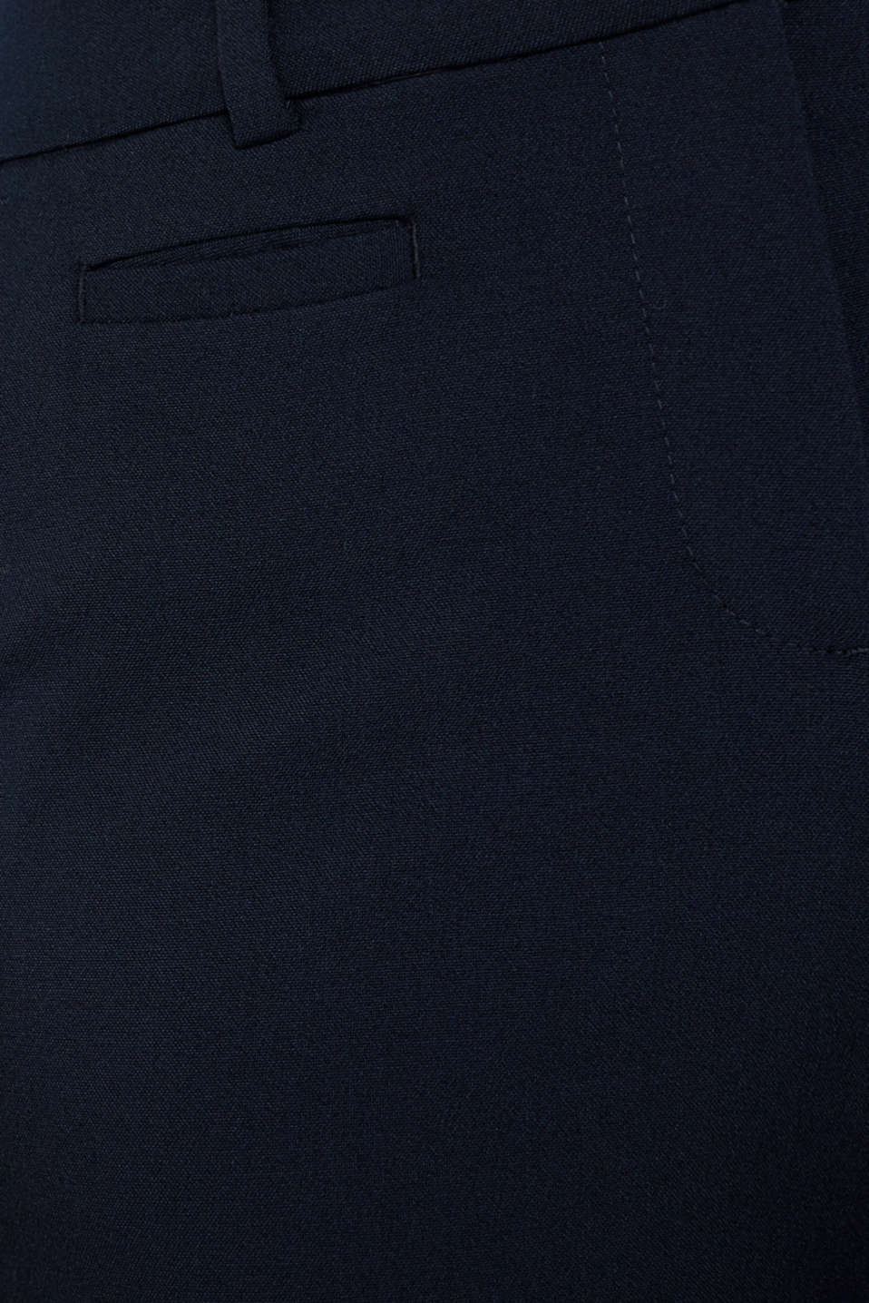 Business trousers with stretch for comfort, NAVY, detail image number 1