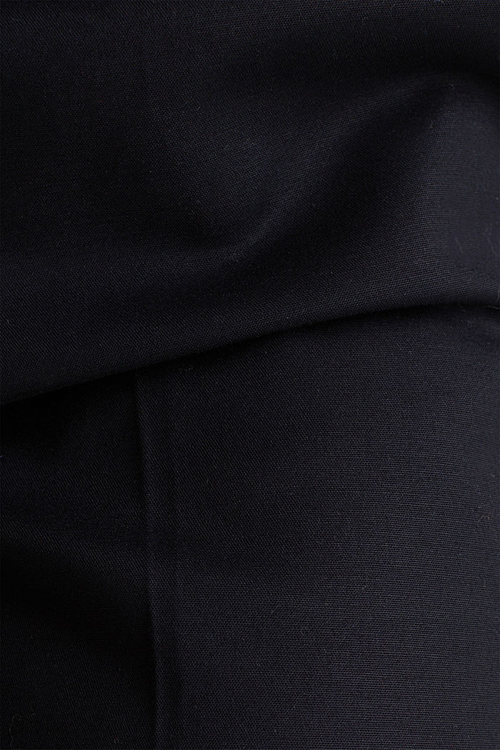 Stretch business trousers with a belt, BLACK, detail image number 4