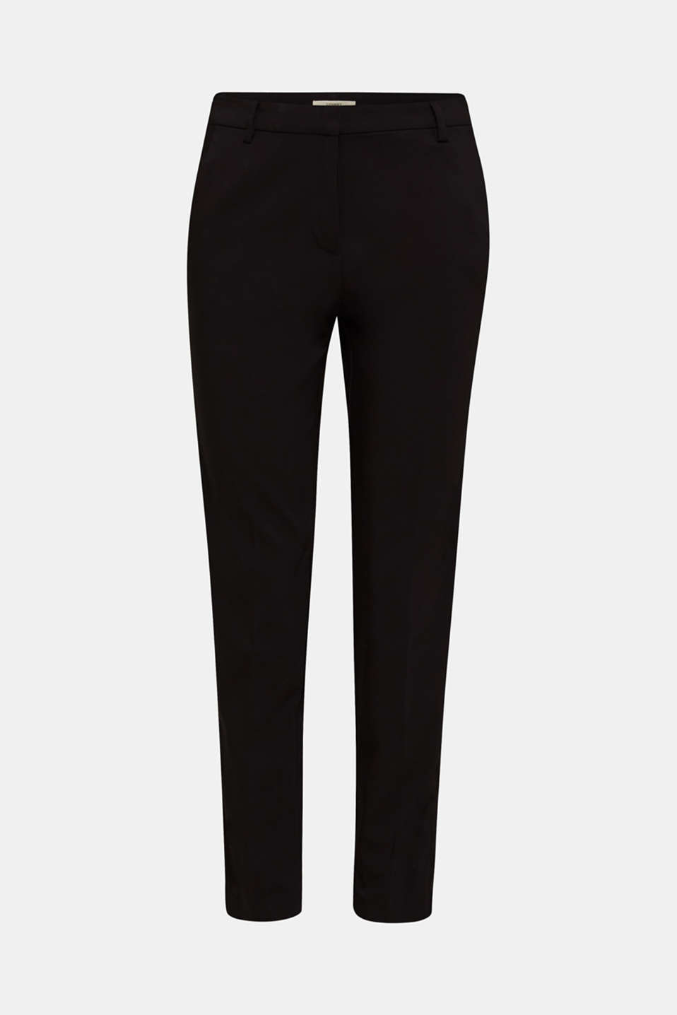 Cigarette-style trousers with glittering woven tape, BLACK, detail image number 7