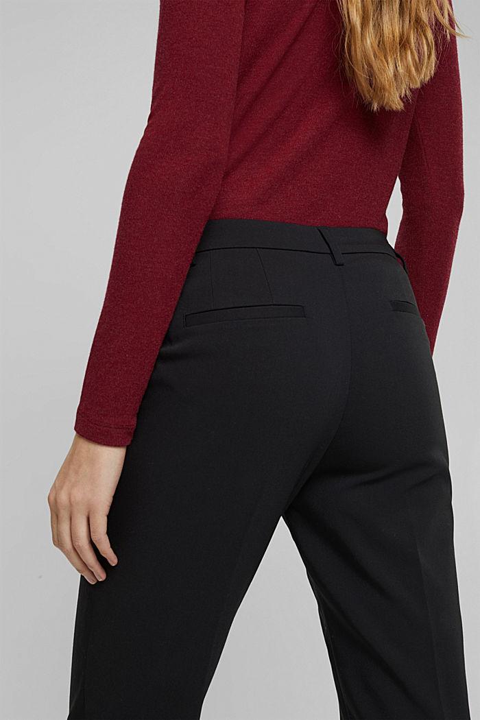 Pantaloni in cotone stretch, BLACK, detail image number 2