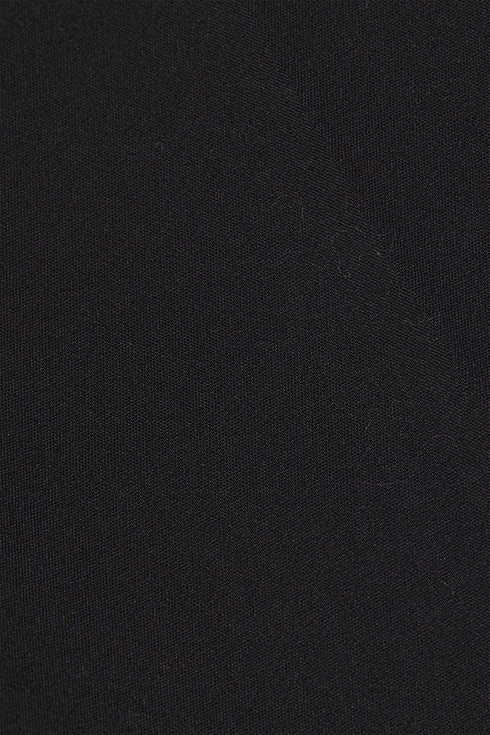 Pantaloni in cotone stretch, BLACK, detail image number 4