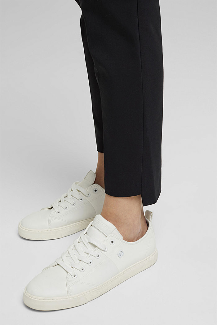 Pantaloni in cotone stretch, BLACK, detail image number 5