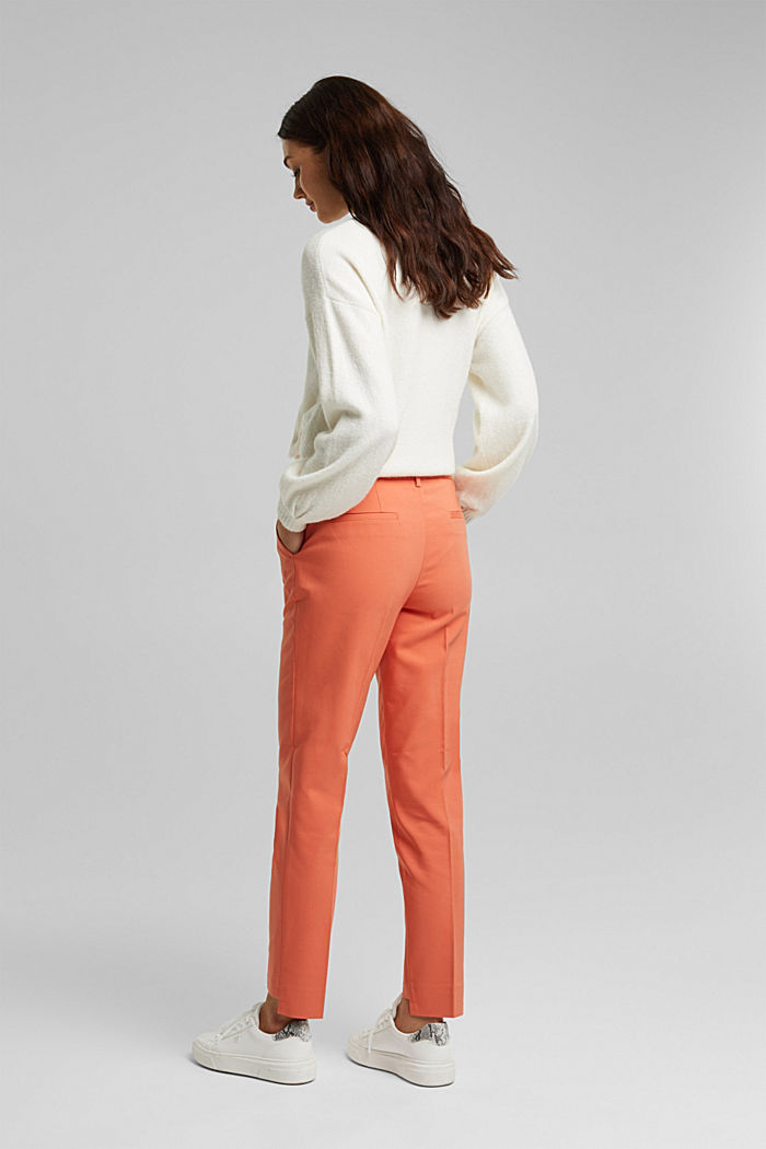 Stretch cotton trousers, BURNT ORANGE, detail image number 3