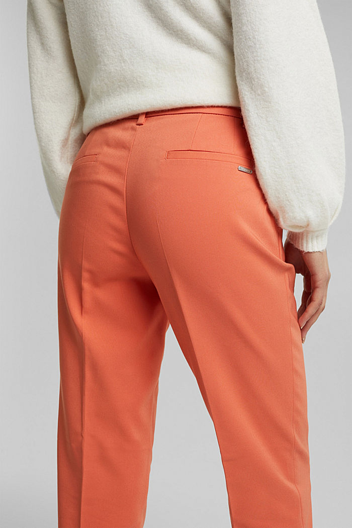 Stretch cotton trousers, BURNT ORANGE, detail image number 5