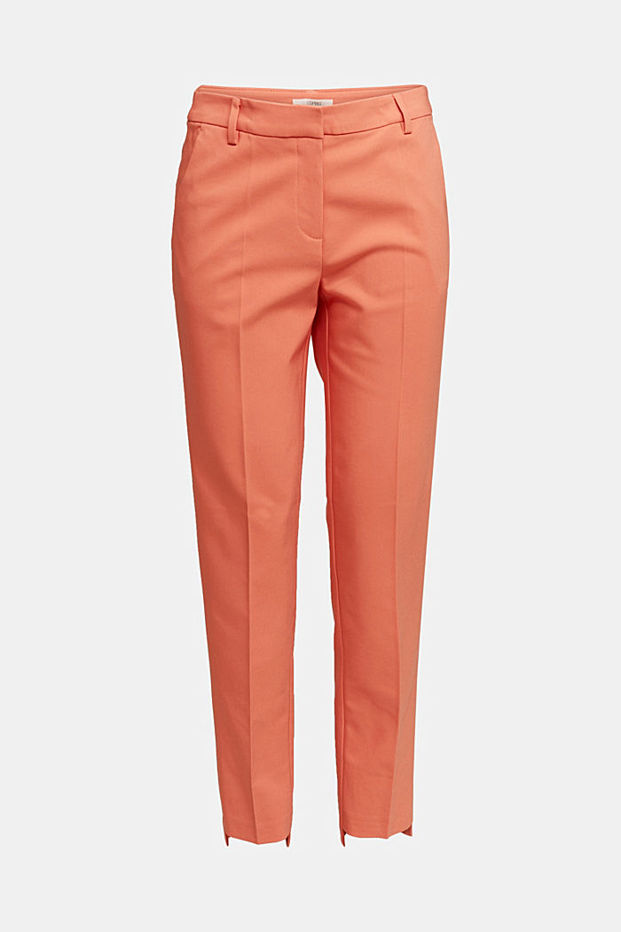 Stretch cotton trousers, BURNT ORANGE, detail image number 6
