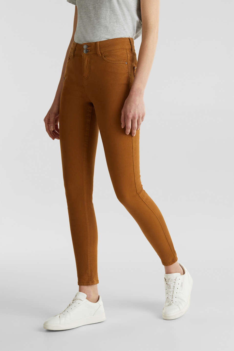Esprit - Colored Stretch-Jeans mit Doppelknopf