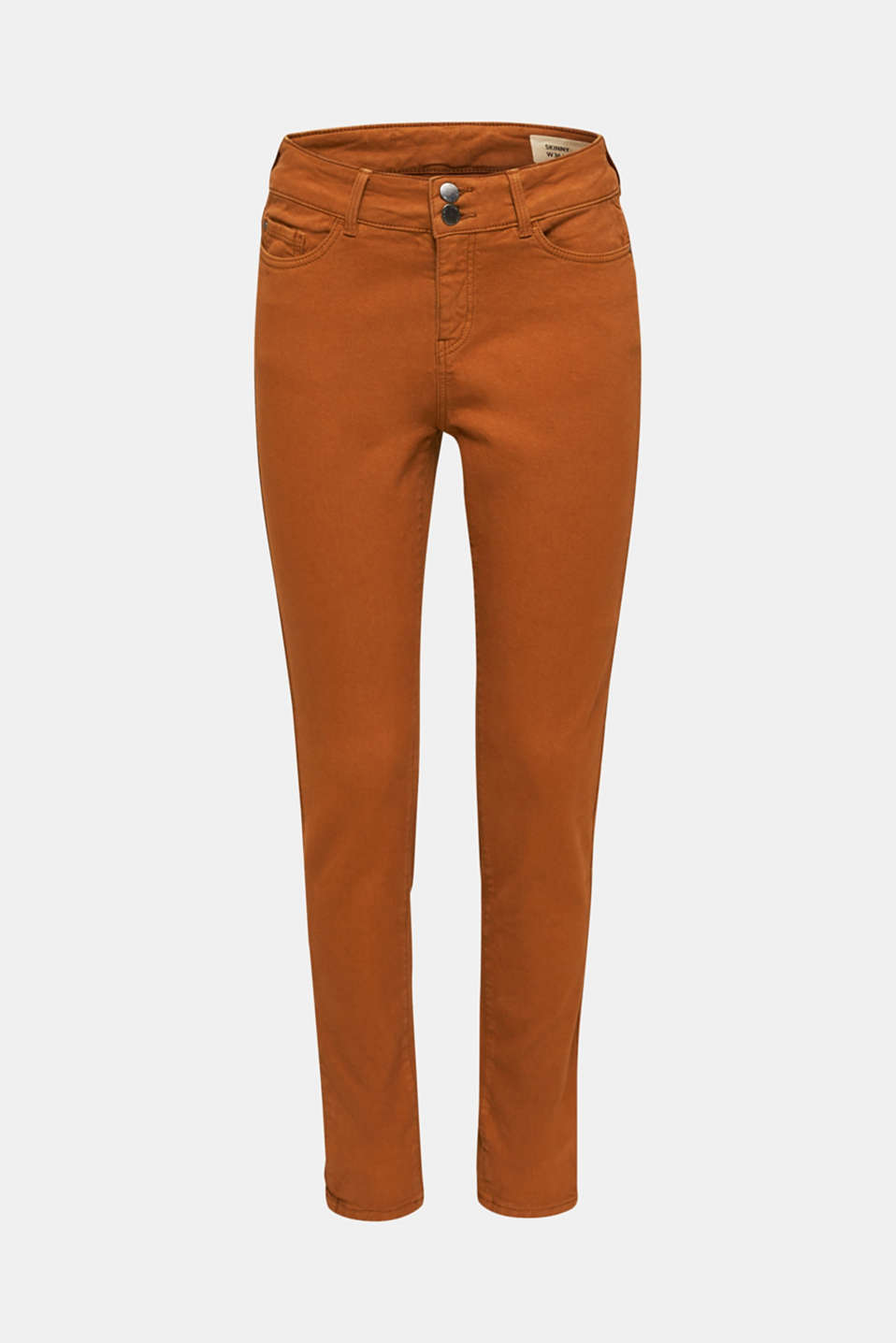 Coloured stretch jeans with double button, TOFFEE, detail image number 6