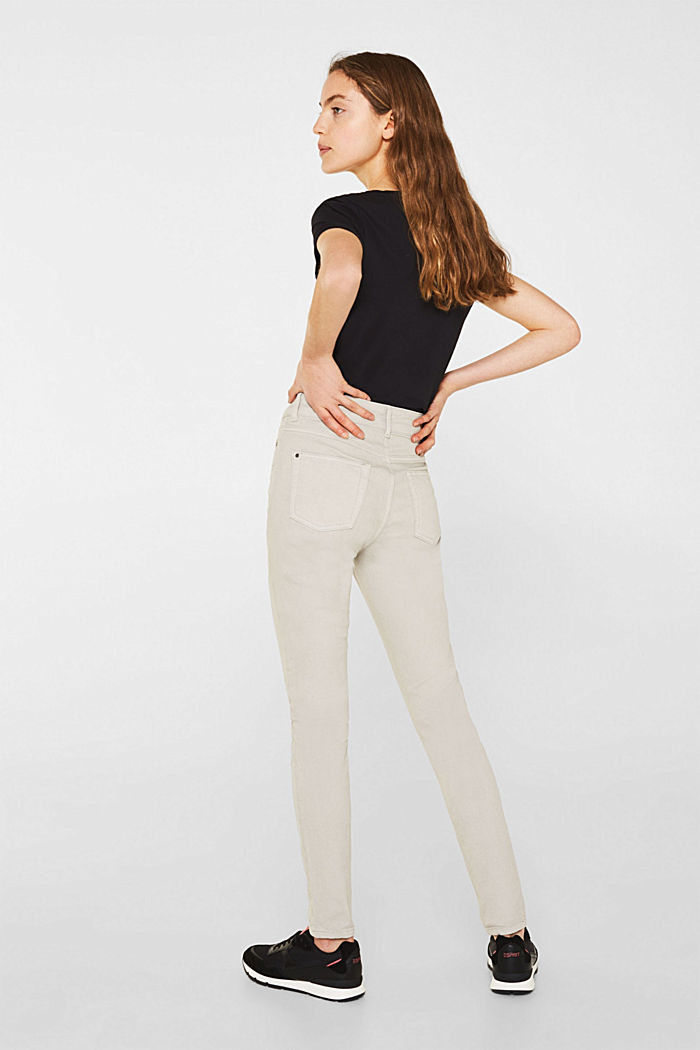 Coloured stretch jeans with double button, LIGHT TAUPE, detail image number 3