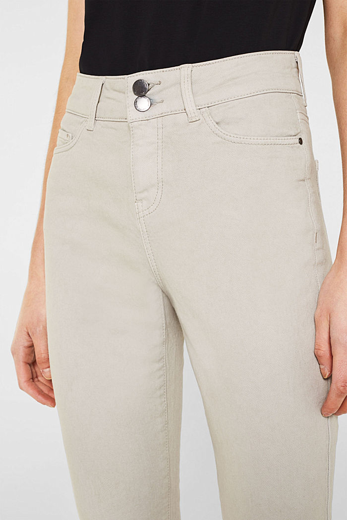 Coloured stretch jeans with double button, LIGHT TAUPE, detail image number 2