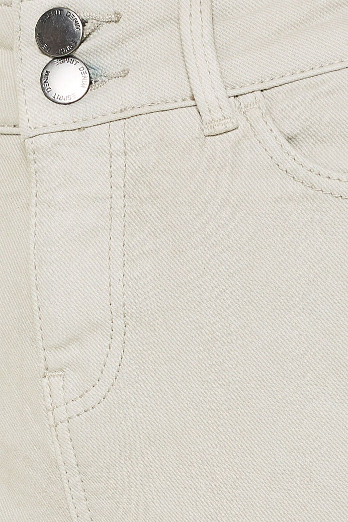 Coloured stretch jeans with double button, LIGHT TAUPE, detail image number 4