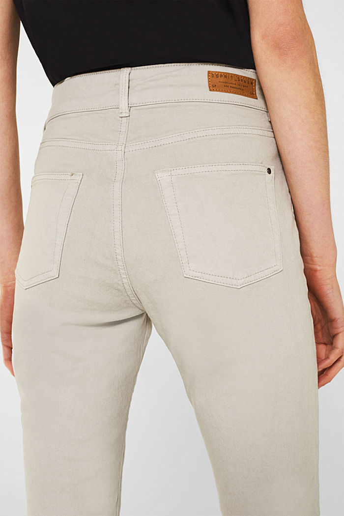 Coloured stretch jeans with double button, LIGHT TAUPE, detail image number 5