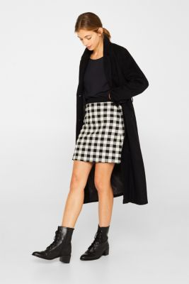 Skirt made of textured stretch jersey, BLACK, detail
