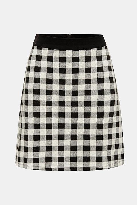 Skirt made of textured stretch jersey