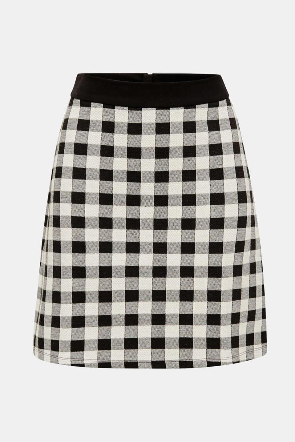 Skirt made of textured stretch jersey, BLACK, detail image number 7