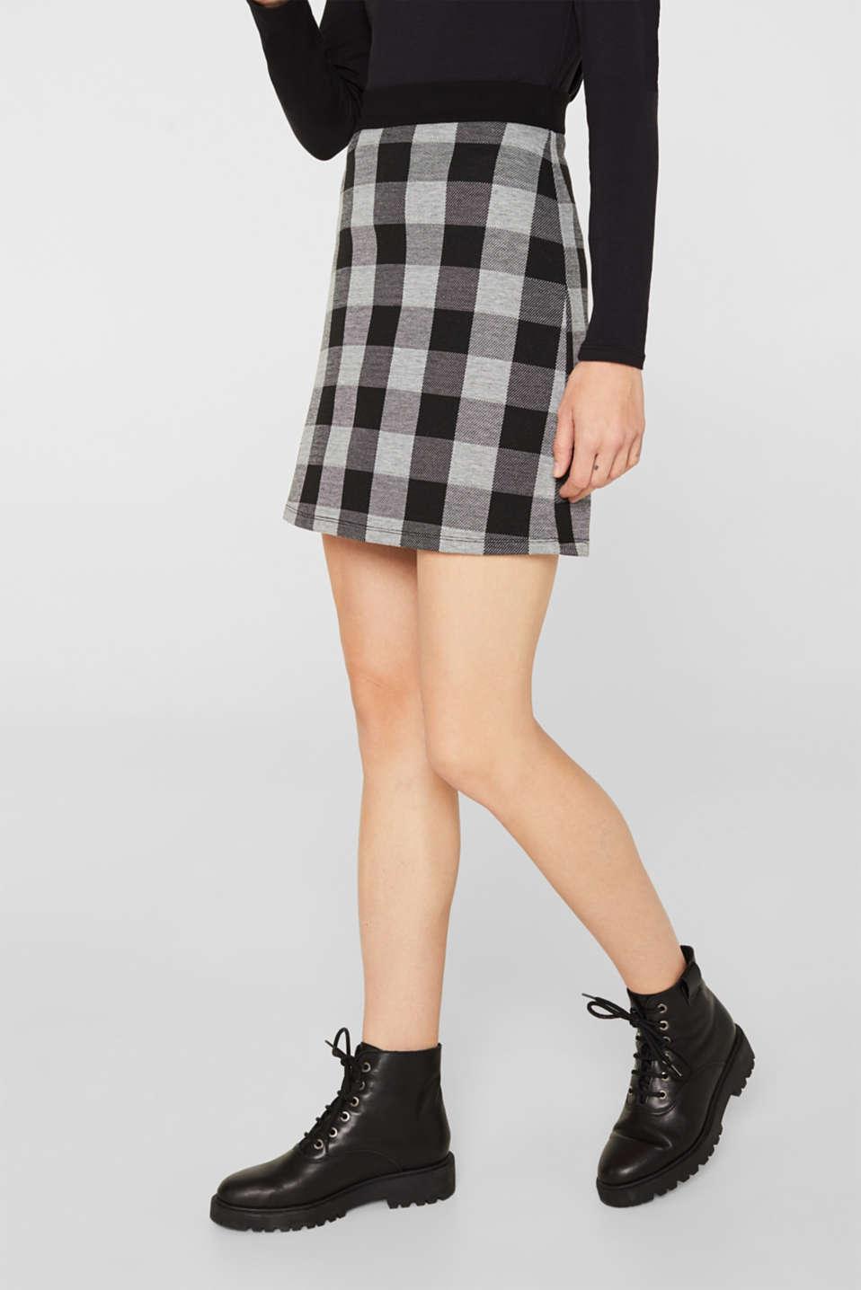 Flared stretch jersey skirt, BLACK, detail image number 5
