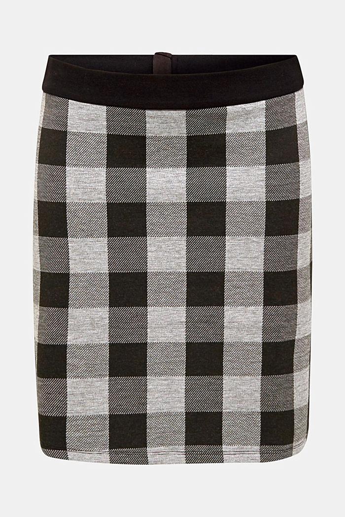 Flared stretch jersey skirt, BLACK, detail image number 6