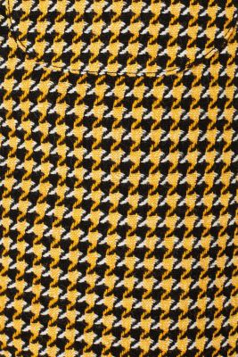 Wool blend: Skirt with a button placket, YELLOW, detail