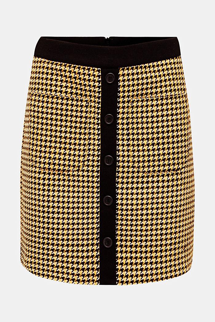 Con lana: falda con tira de botones, YELLOW, detail image number 0