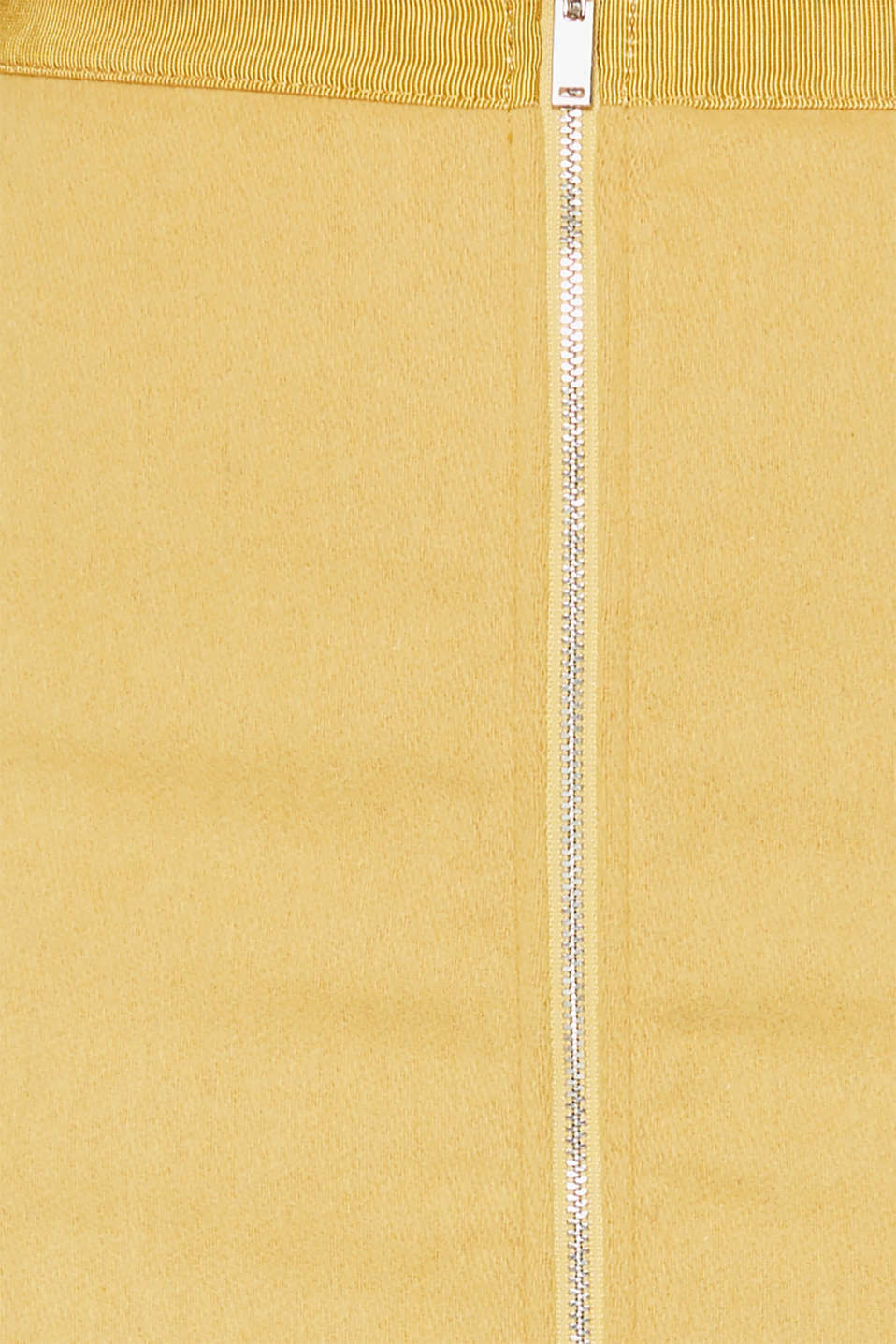 With wool: skirt with a front zip, YELLOW, detail image number 4
