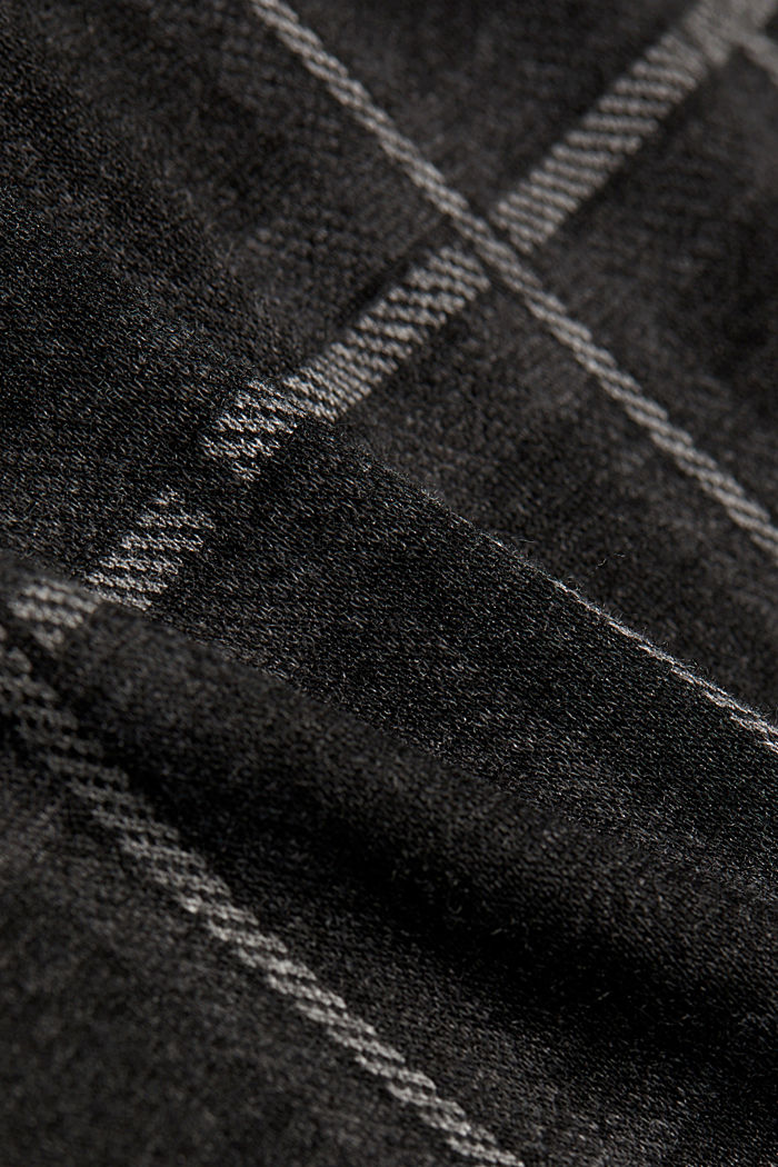 Mini skirt made of checked jersey, DARK GREY, detail image number 4
