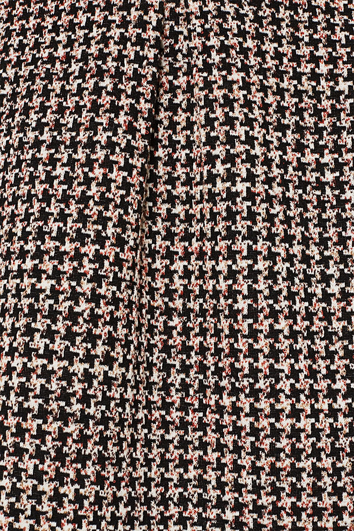 Houndstooth skirt in a tulip shape, BLACK, detail image number 3
