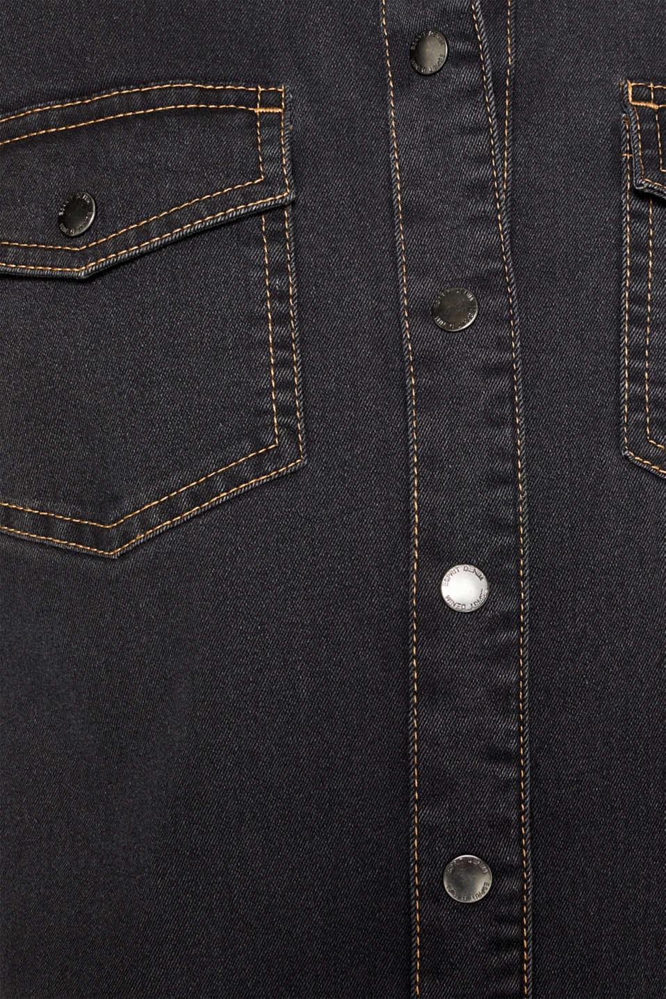 Dresses denim, GREY DARK WASH, detail image number 5