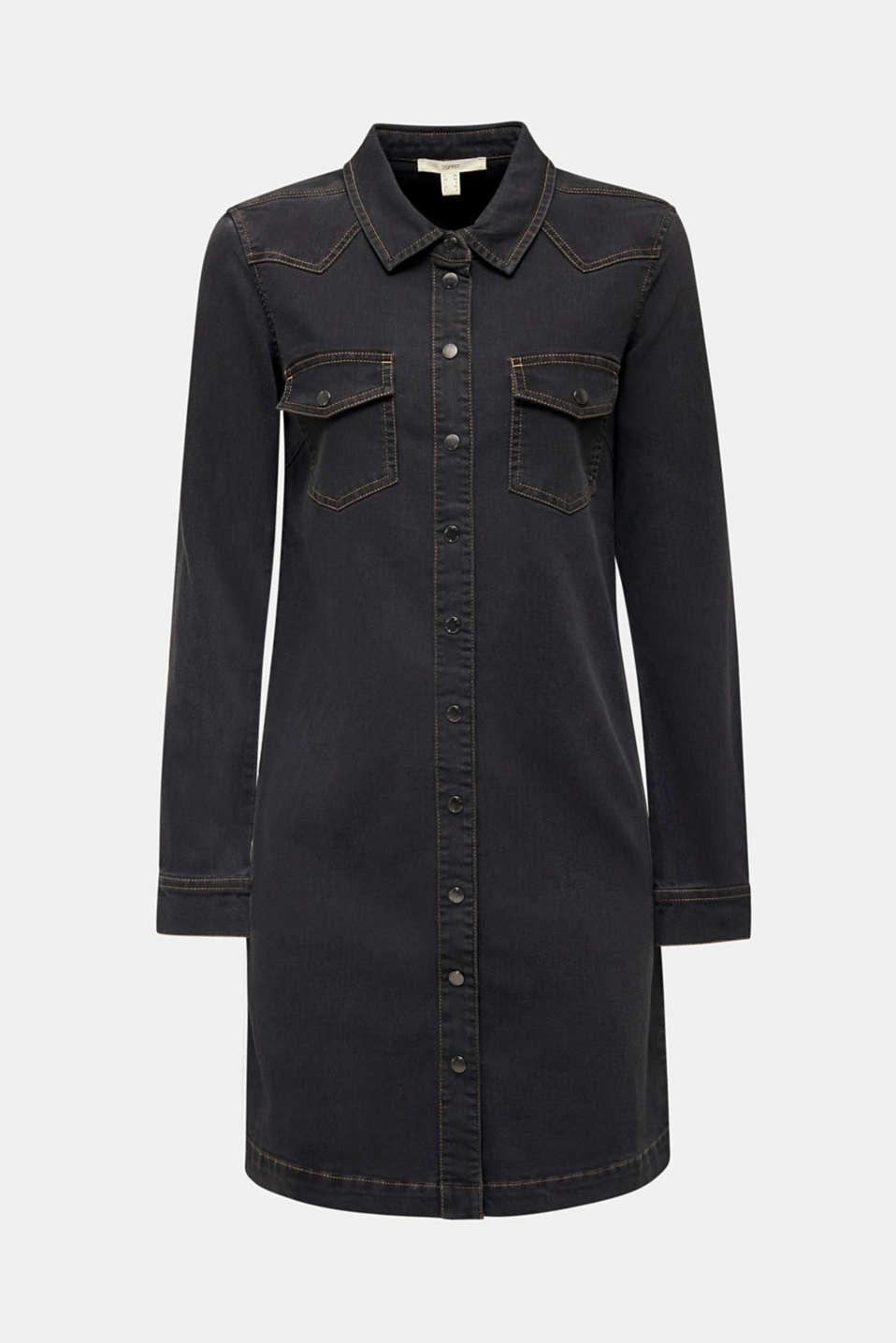 Dresses denim, GREY DARK WASH, detail image number 8