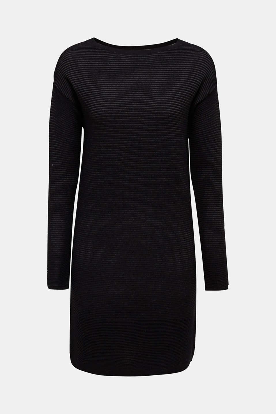 Rib knit dress, 100% cotton