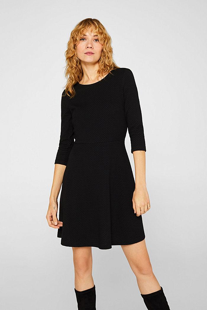 Stretchy, textured dress, BLACK, detail image number 0