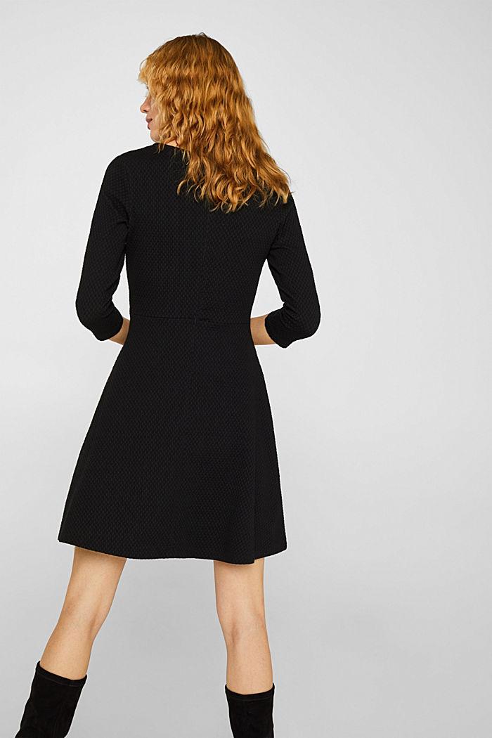 Stretchy, textured dress, BLACK, detail image number 2