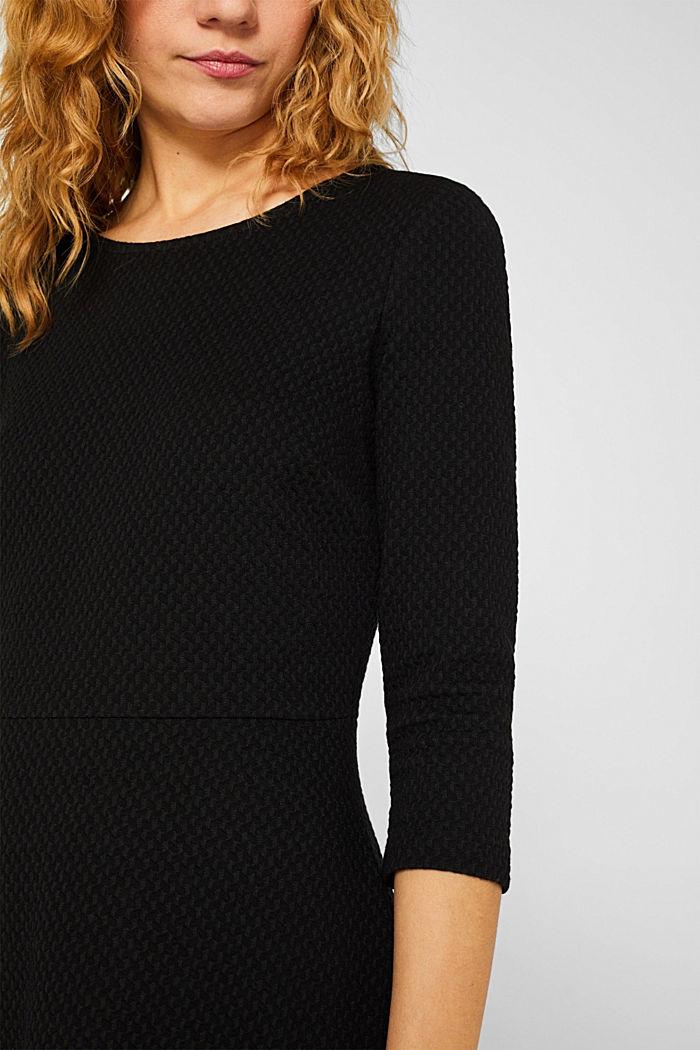 Stretchy, textured dress, BLACK, detail image number 3