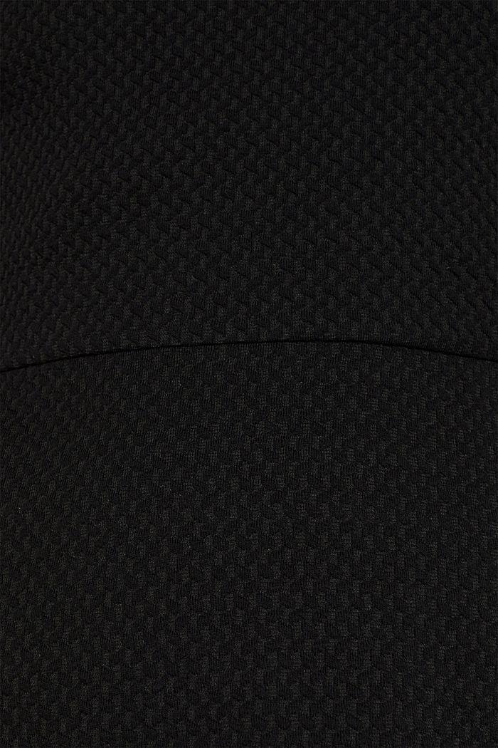 Stretchy, textured dress, BLACK, detail image number 4