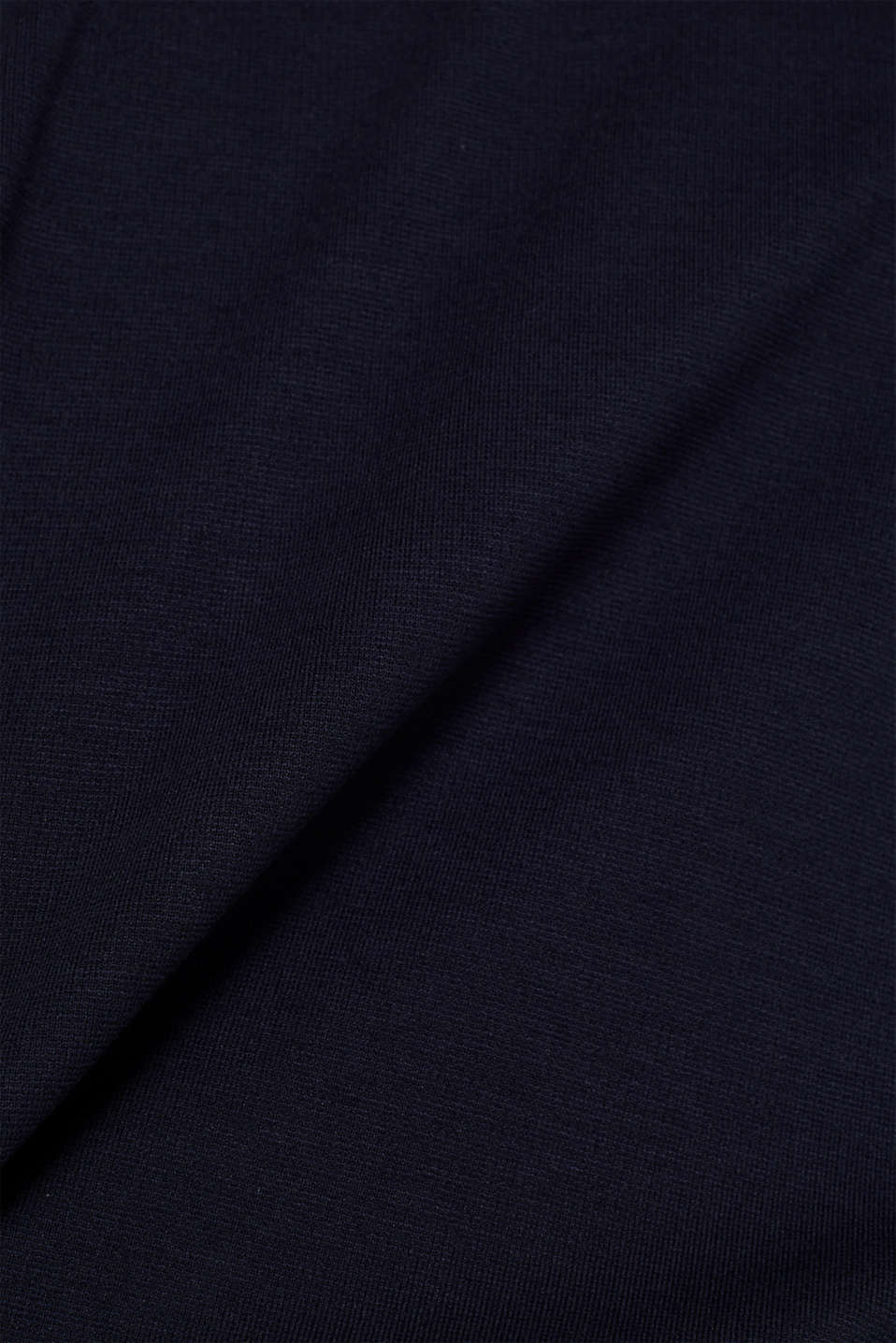 Stretch jersey dress in a layered look, NAVY, detail image number 4