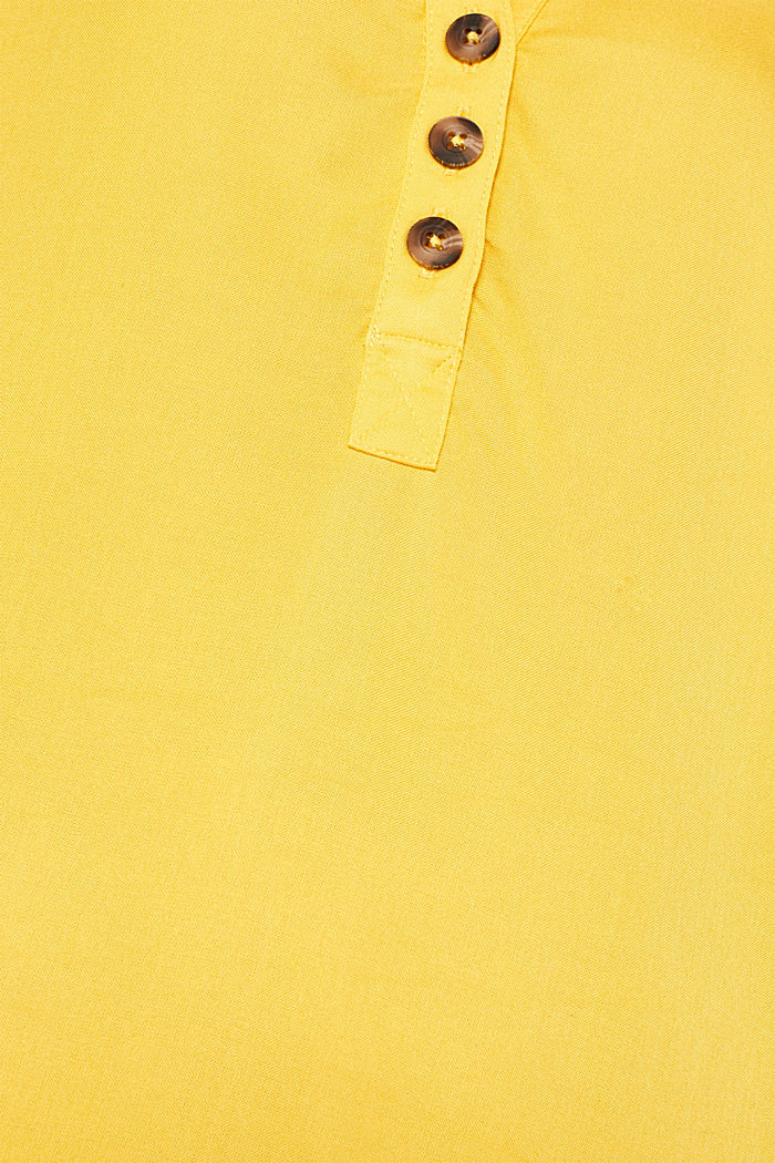 Slip-on blouse with an open collar, YELLOW, detail image number 4