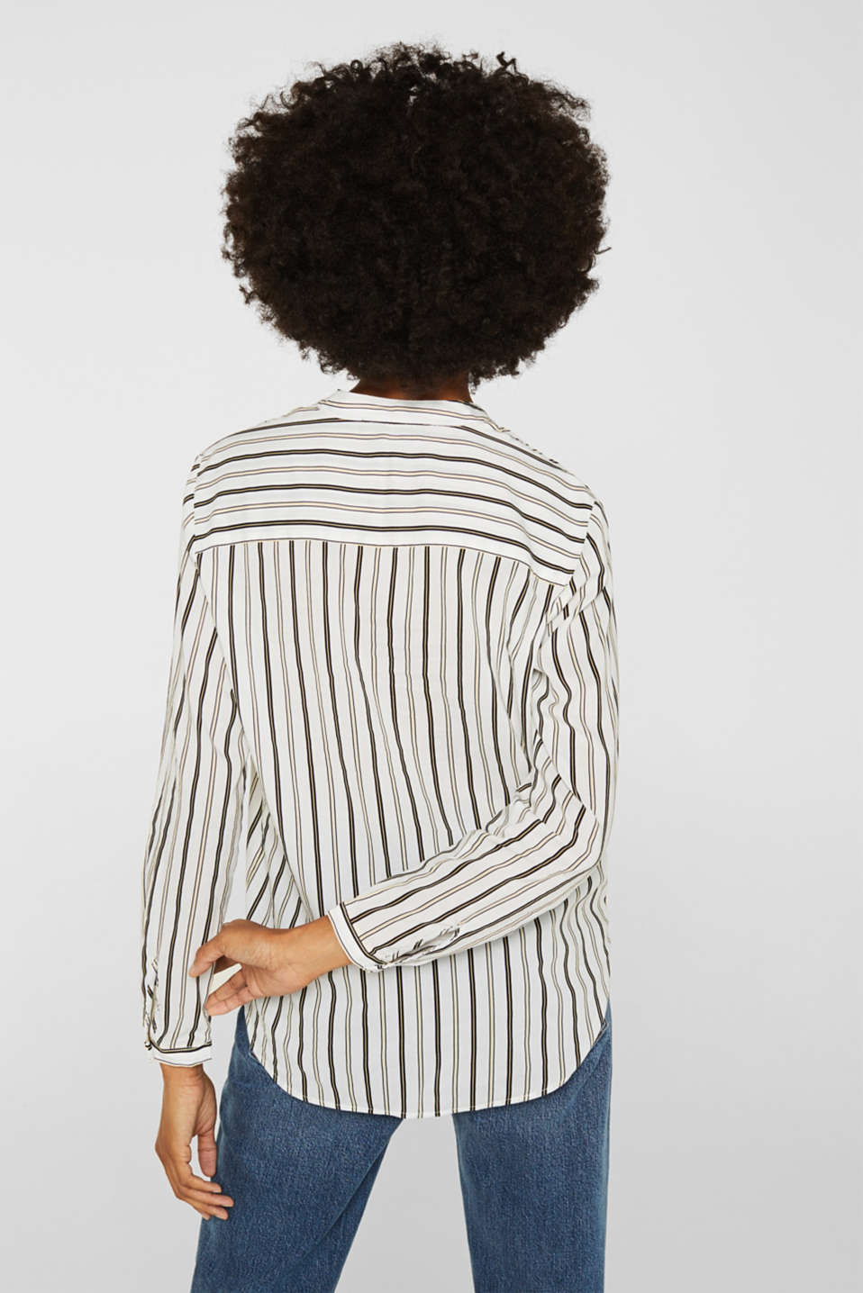 Slip-on blouse with stripes, OFF WHITE, detail image number 3