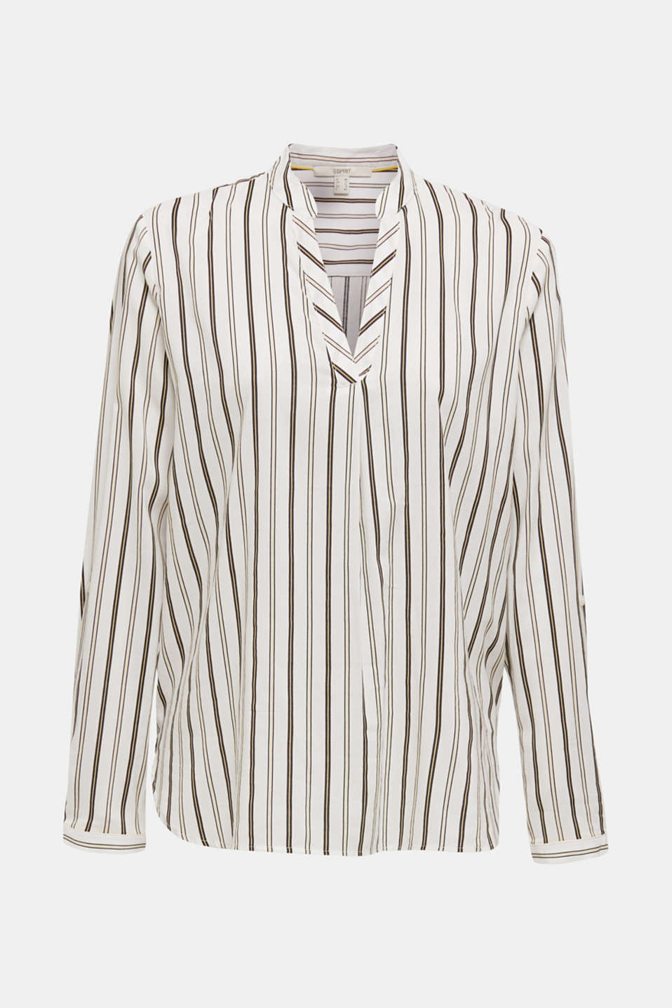 Slip-on blouse with stripes, OFF WHITE, detail image number 6