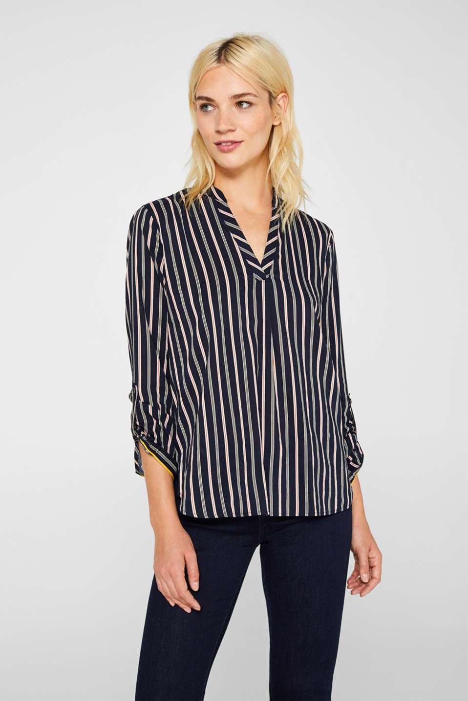 Esprit - Slip-on blouse with stripes