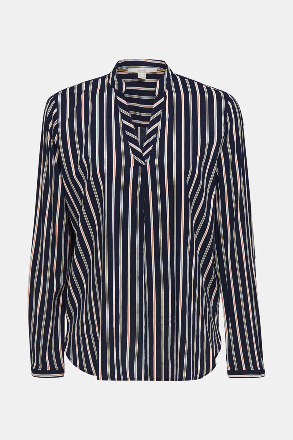 Slip-on blouse with stripes, NAVY, detail image number 5