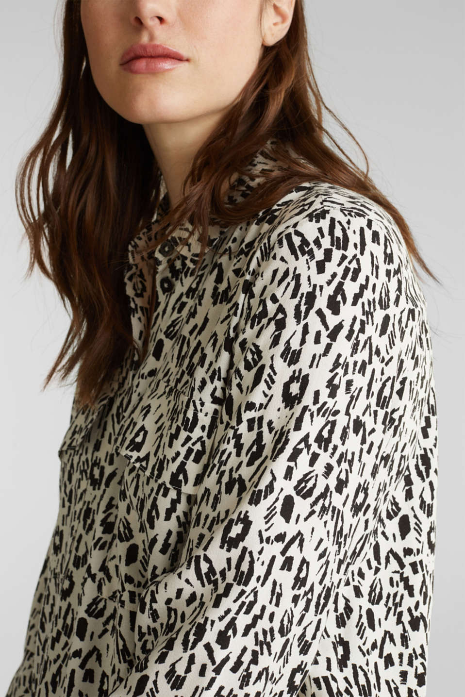 Print blouse with flap pockets, ICE 4, detail image number 2