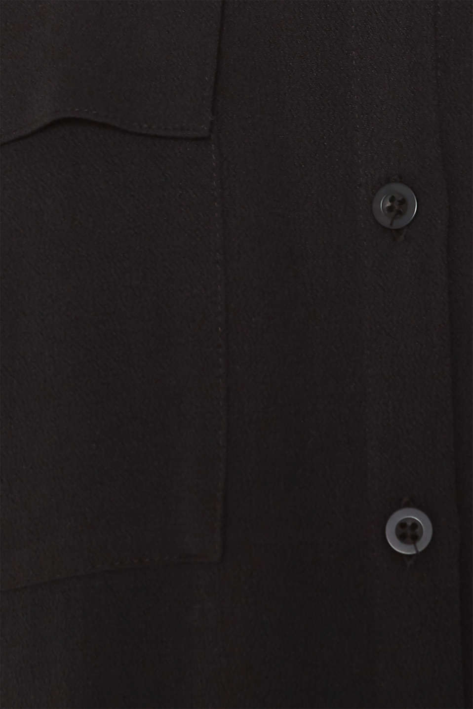 Shirt blouse made of fine crêpe, BLACK, detail image number 4