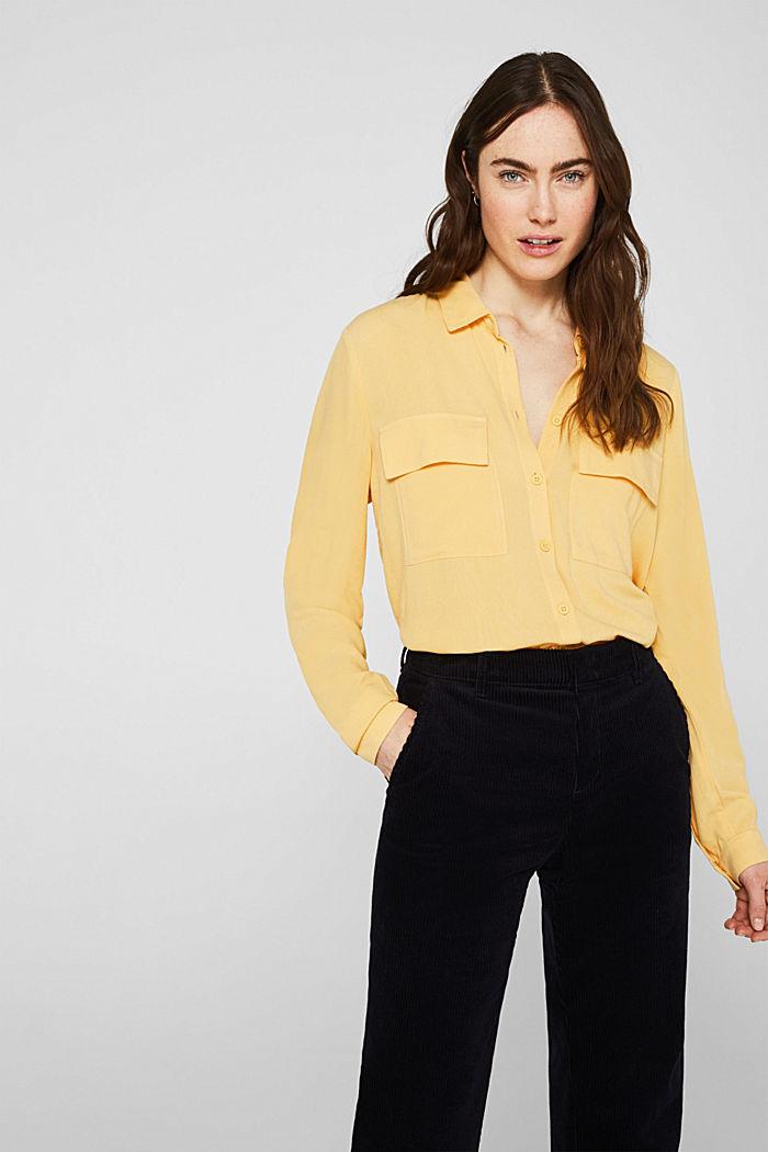 Hemd-Bluse aus feinem Crêpe