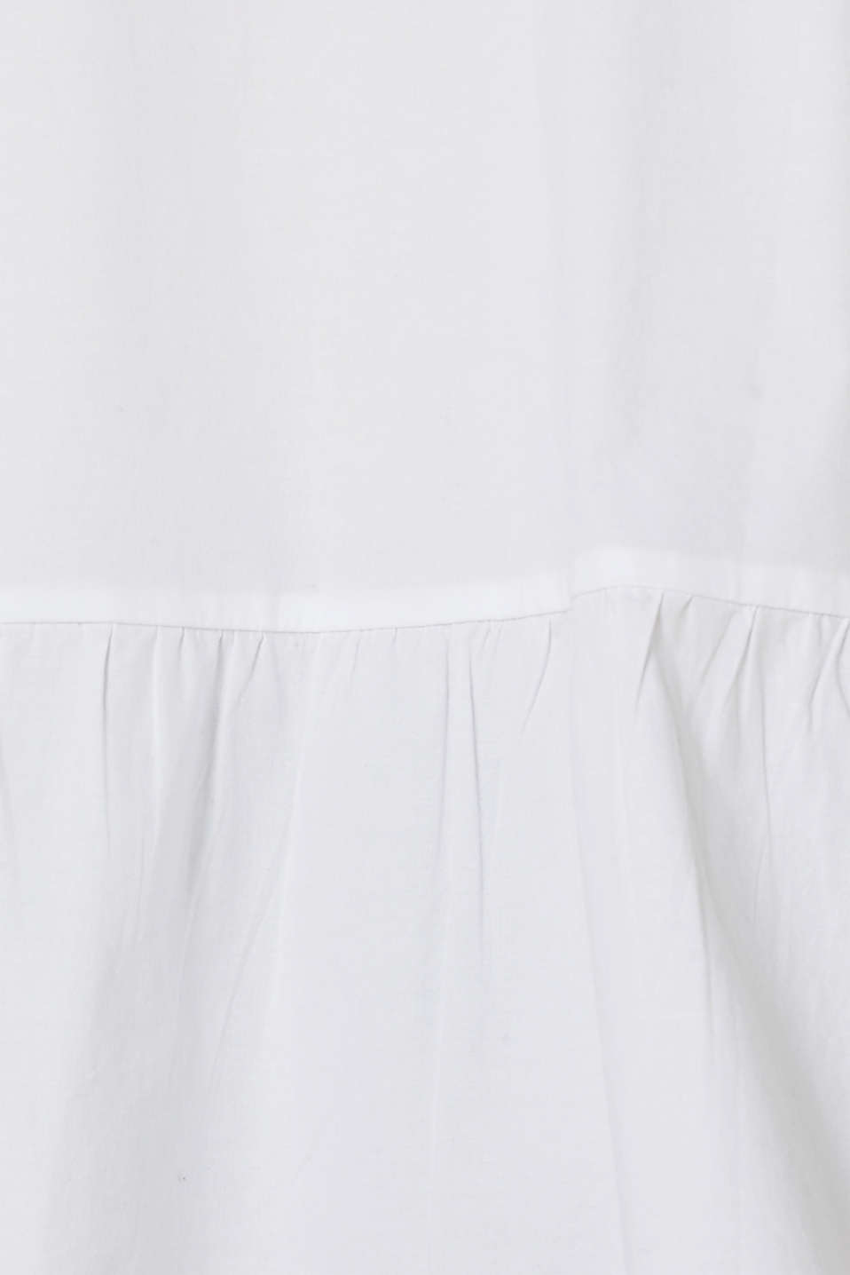 Stretch blouse with a flounce hem, WHITE, detail image number 3